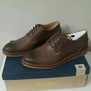 Men's Sperry Gold Crepe Oxford Brown Leather Shoes